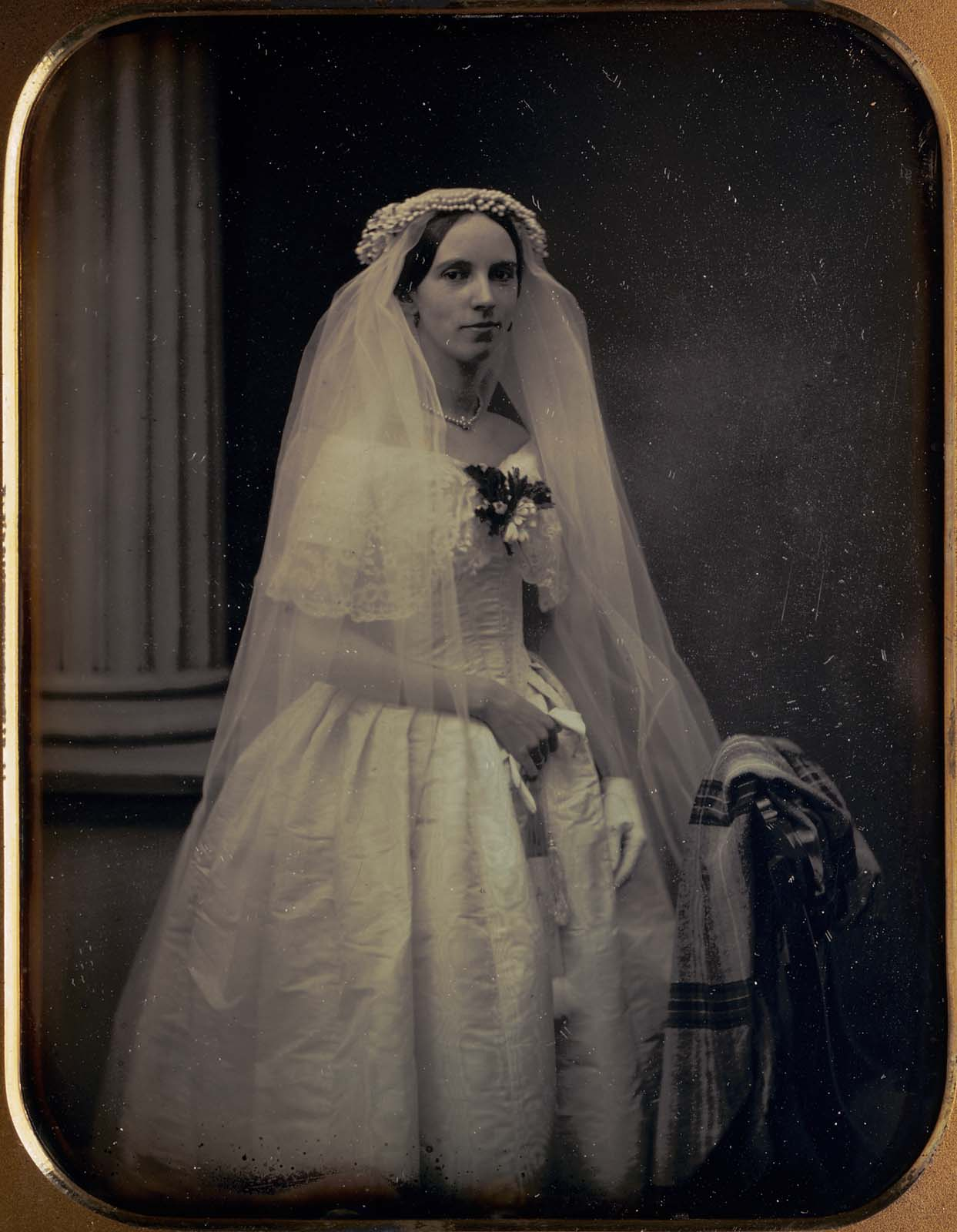 Martha Pickman Rogers In Her Wedding Gown