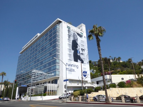 Smartwater Running mate billboard Sunset Strip