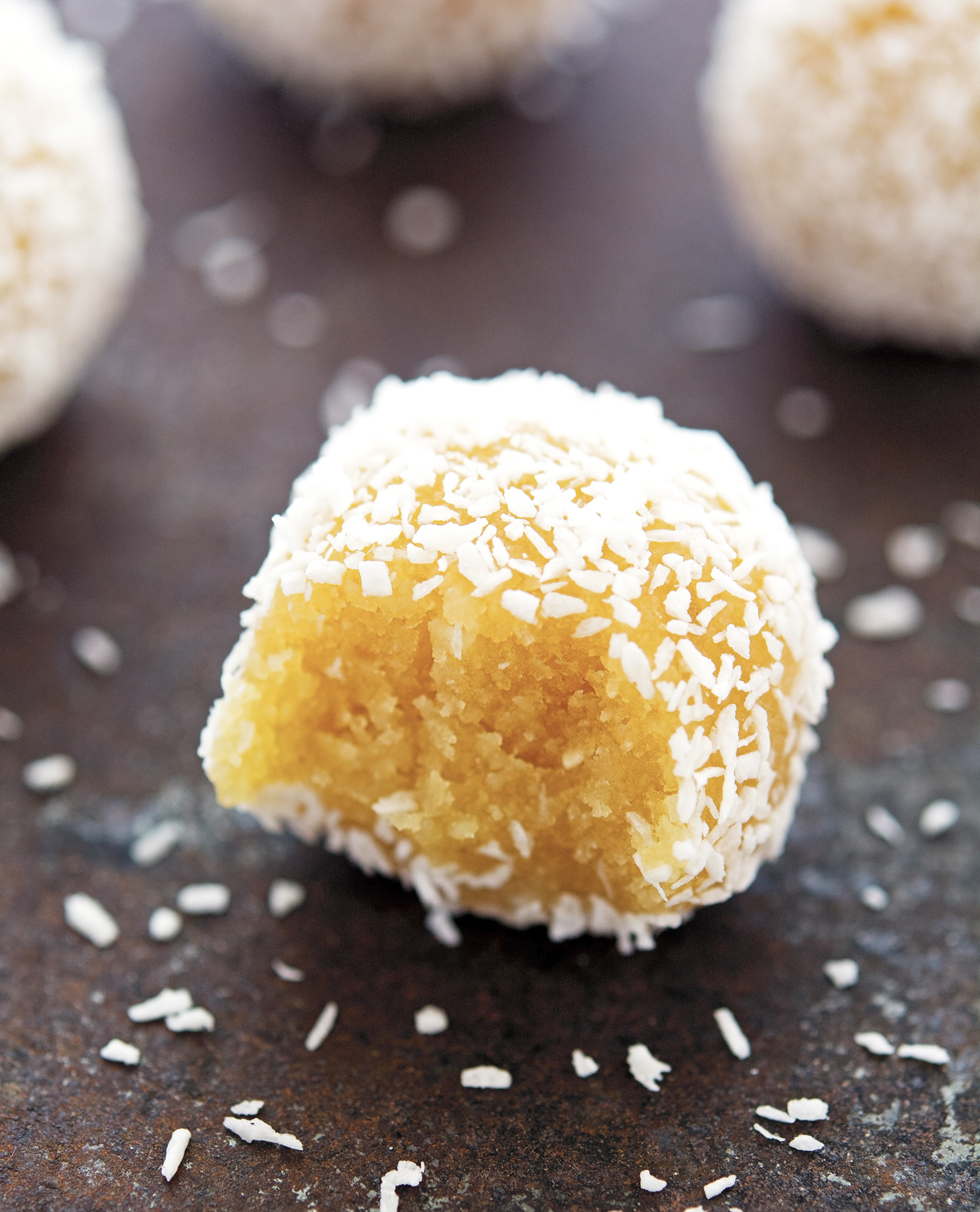 (No-Bake) Coconut Lemon Meltaway Balls