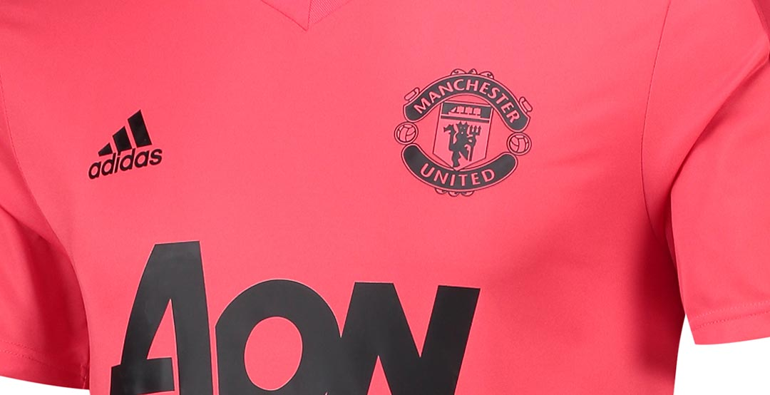 new product 06b1f 30990 Pink + Black Adidas Manchester United 18-19 Training Kits ...