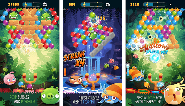Angry Birds POP Bubble Shooter v2.22.0 Apk Mod [Dinero]