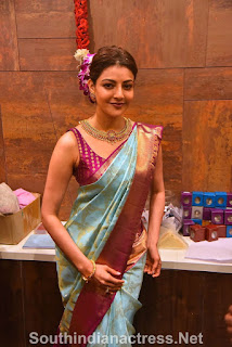 indian 2 tamil movie actress kajal agarwal grand launch of vidhatri shopping mall event Pictures 1