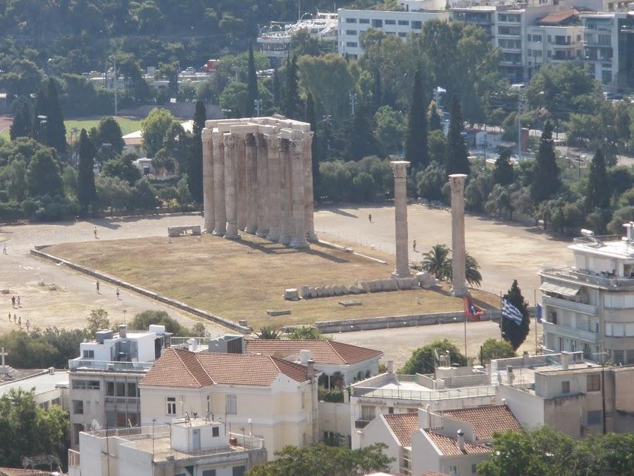 Vista aérea del Templo de Zeus Olímpico