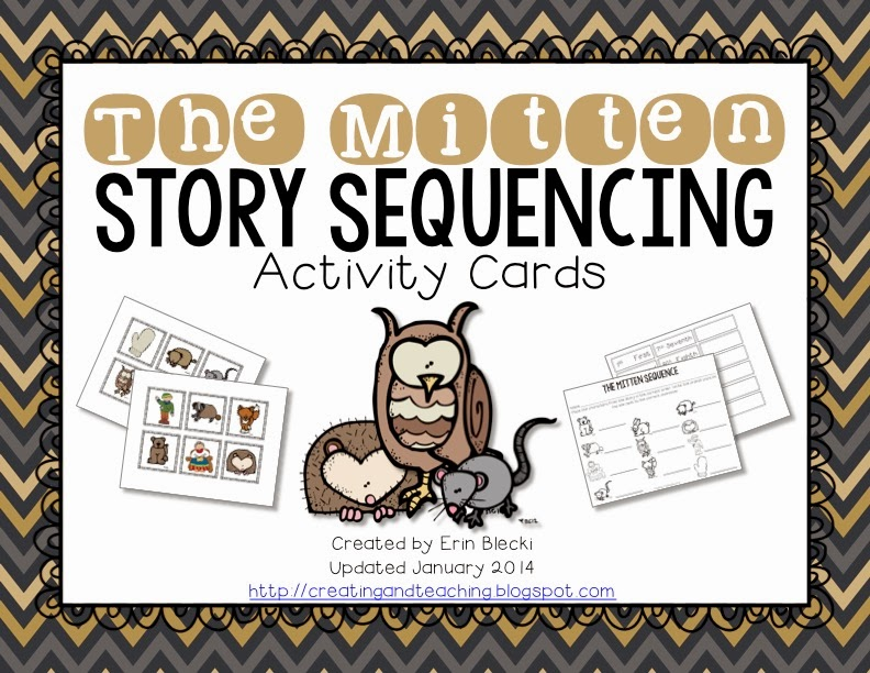 http://www.teacherspayteachers.com/Product/The-Mitten-Sequence-Cards-Updated-12014-190144
