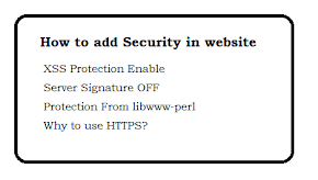 How to add Security in Website?