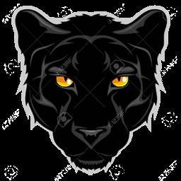 logo panther hitam
