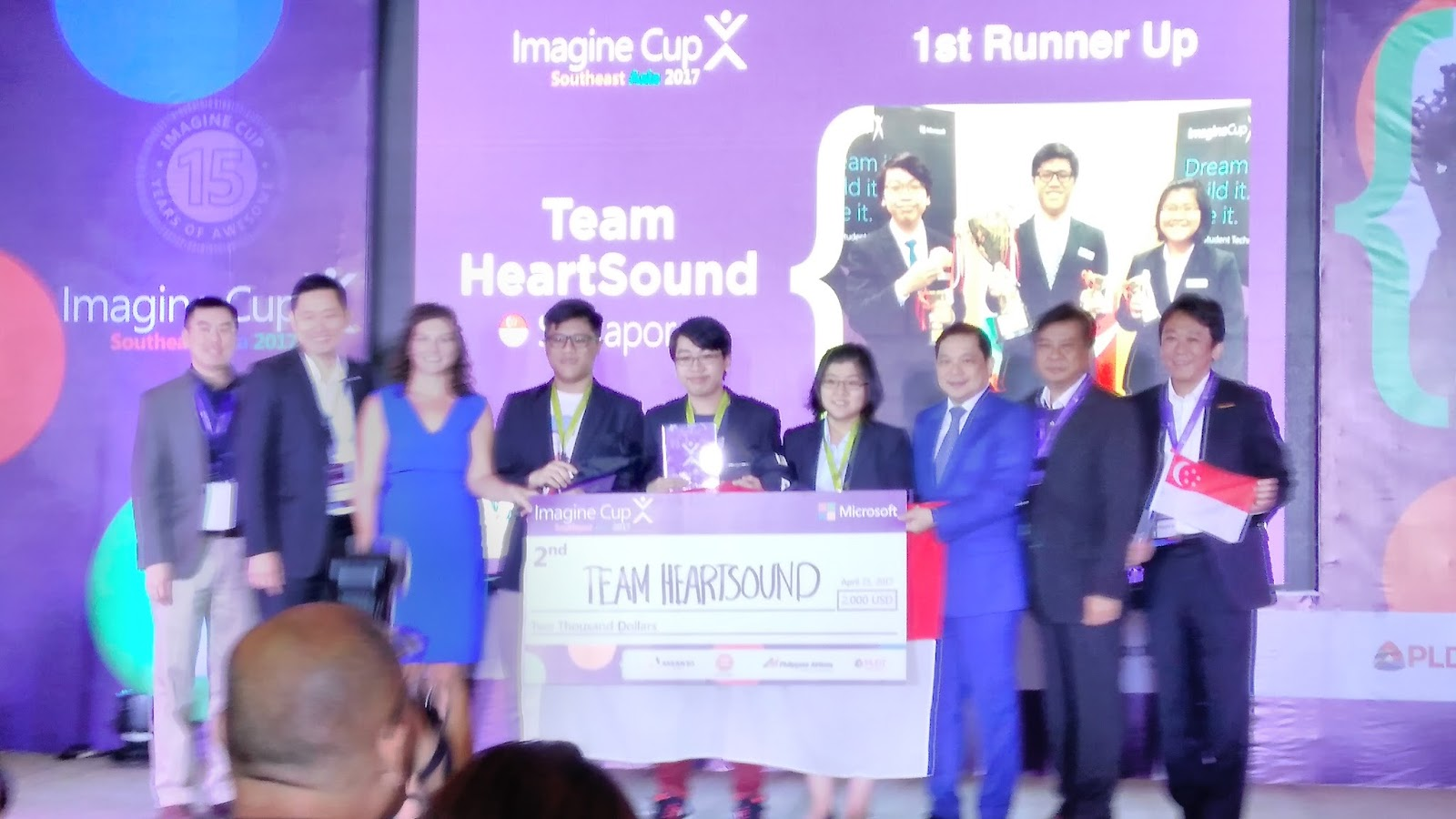 The First Runner Up And Second Runner Up Places Were Awarded To Team  HeartSound From Singapore And Team Opticode From The Philippines  Respectively.