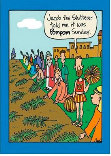 christian humor jokes cartoons funny joke cartoon bible church biblical humour sunday palm catholic fun hilarious easter memes