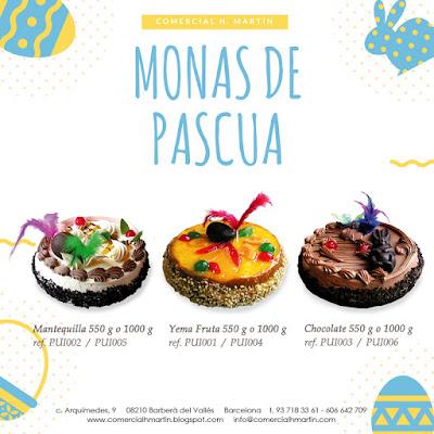 Mona de Pascua  - Yema Fruta - Mantequilla - Chocolate - Comercial H. Martin sa