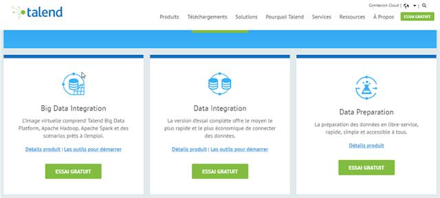 talend - Big data - Data integration - Data preparation