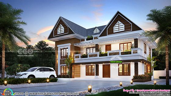 2822 square feet 4 bedroom modern house plan