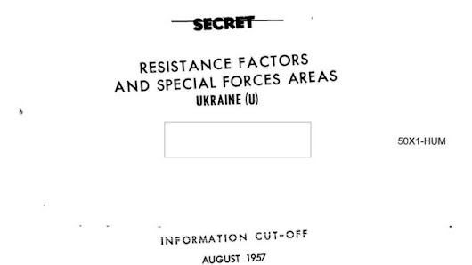 CIA released 1957 study of the feasibility of the anti-Soviet uprising in Ukraine