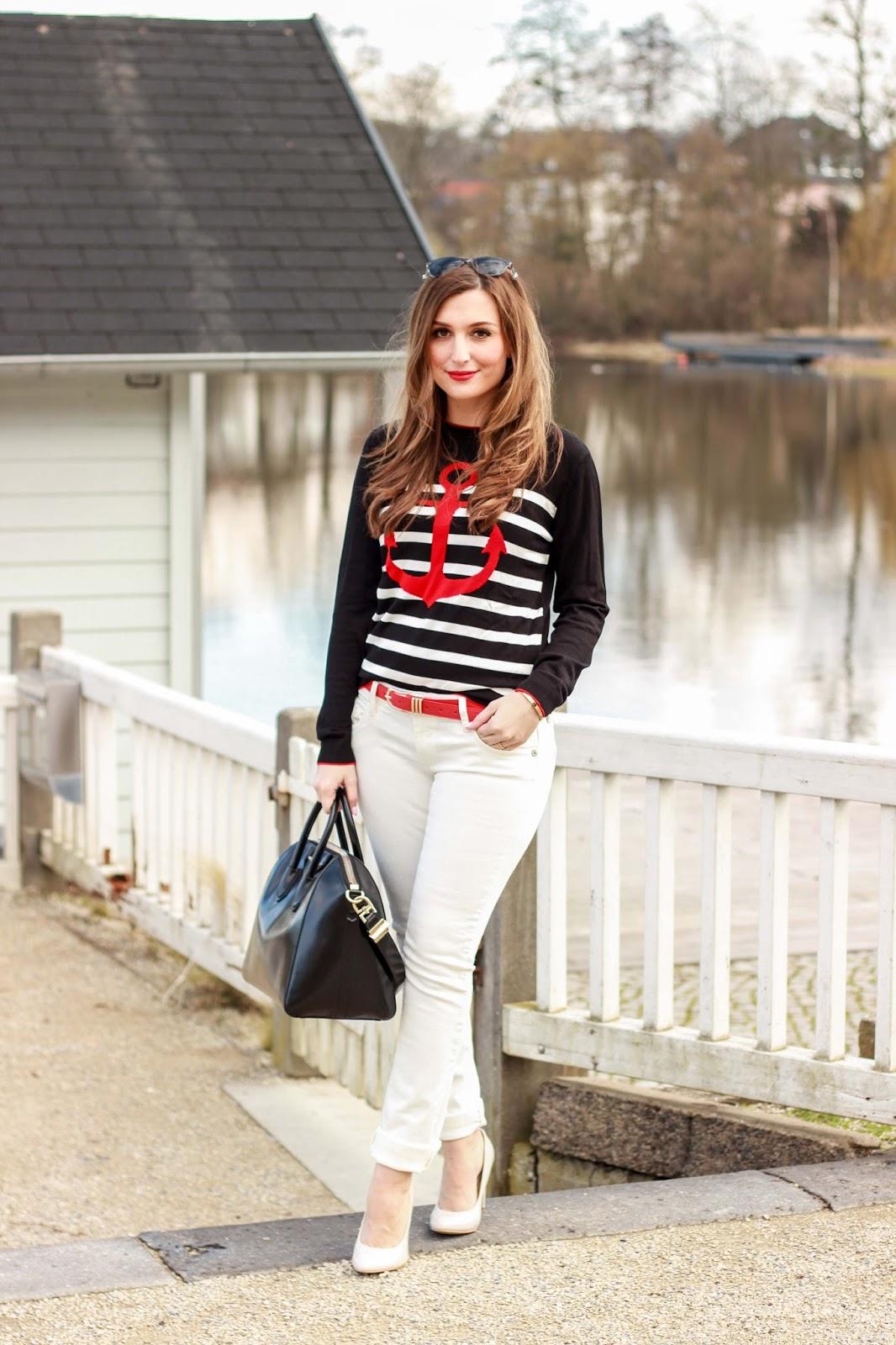 Ringelpullover - Pullover mit Anker -Deutsche Fashionblogger - LifestyleblogConleys-Conleys Pullover-Pullover von Conleys-Fashionstylebyjohanna-Fashionblogger aus Deutschland