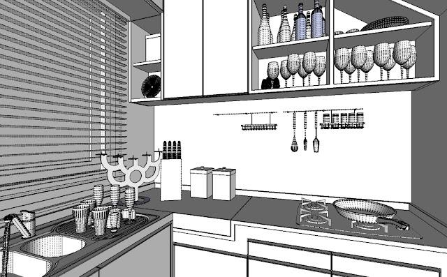 Nomeradona SketchUp VR: The Making: Contemporary Kitchen