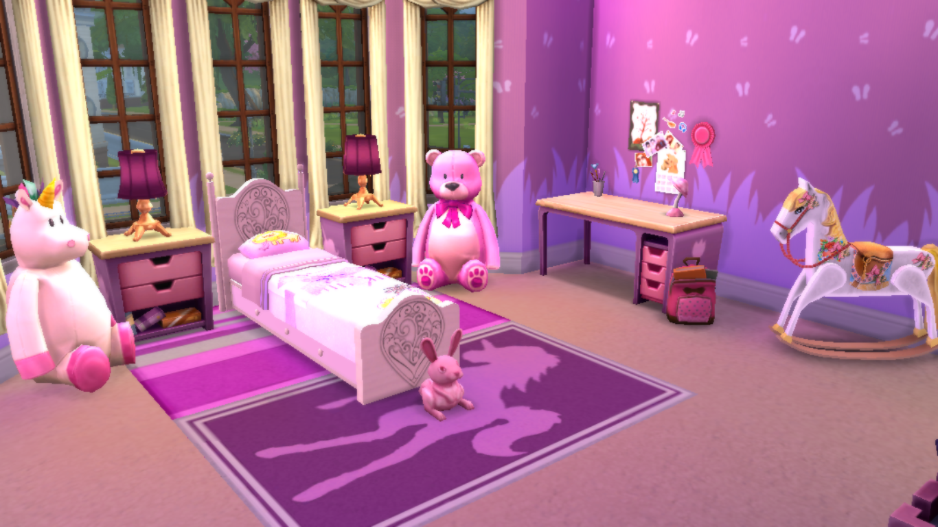 Sims 4 room little princess bedroom sanjana sims studio for Little princess room