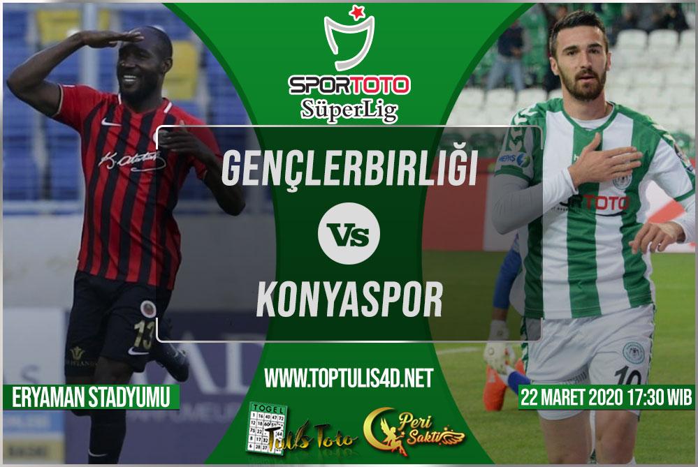 Prediksi Gençlerbirliği vs Konyaspor 22 Maret 2020