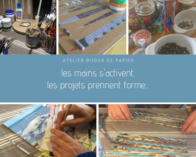 atelier bijoux de papier