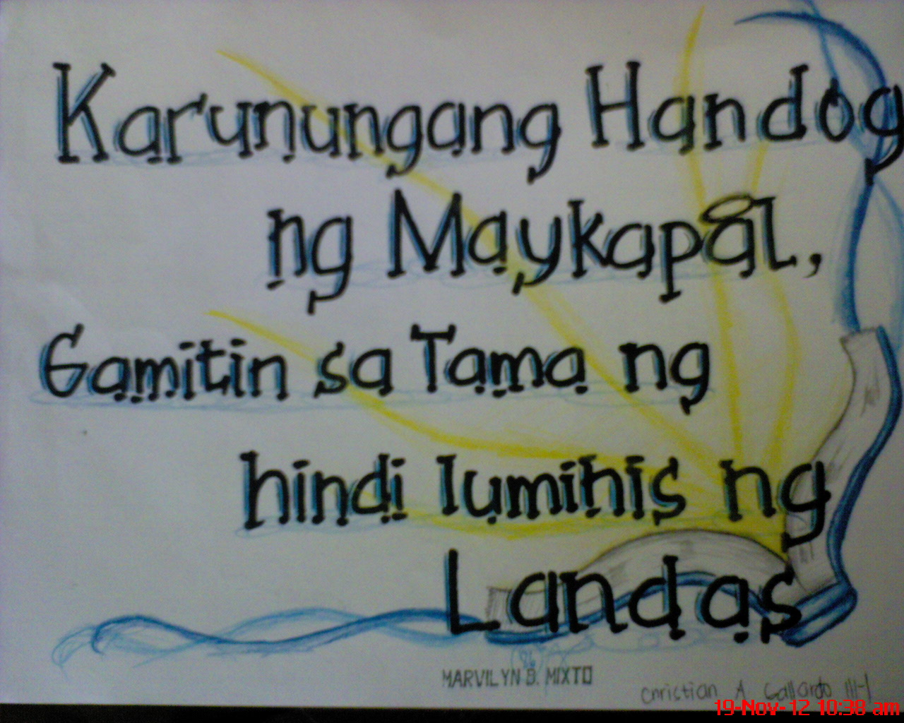 Slogan tungkol sa diskriminasyon