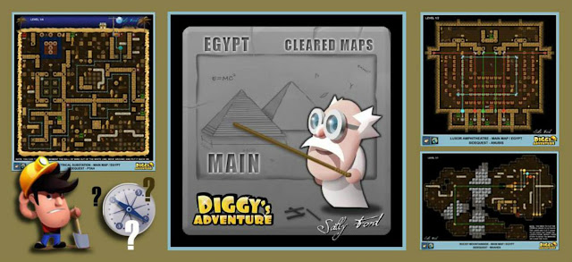 Diggy's Adventure Walkthrough: Egypt Main Quest