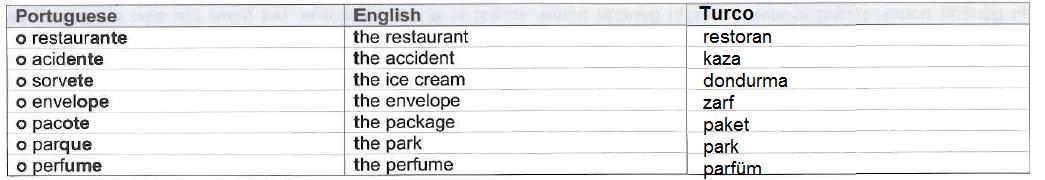 portekizce dersleri substantivos masculinos eril isimler
