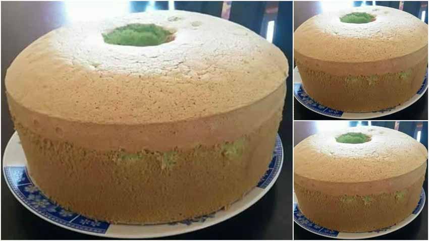 Resep Chiffon Pandan Cake Tanpa Emulsifer