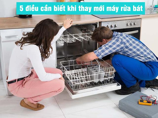 5 Điều cần biết khi mua mới máy rửa bát