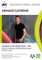 Rencontre avec Arnaud Cathrine à la bibliothèque Pierre Bourdan de Marly-le-Roi
