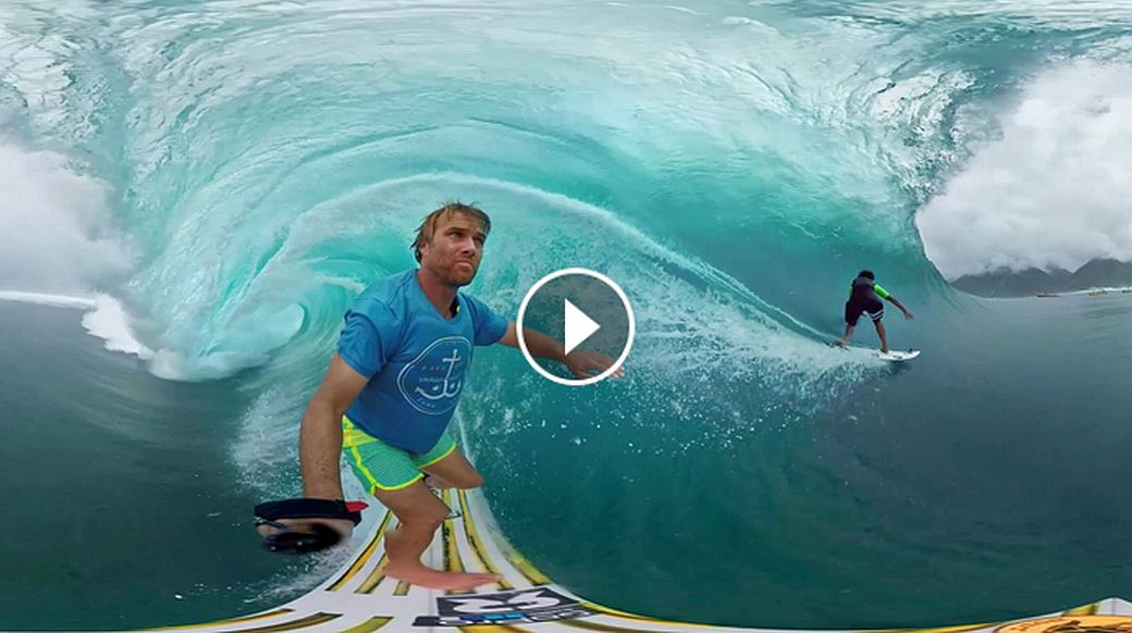 GoPro Spherical Tahiti Surf VR with Anthony Walsh and Matahi Drollet