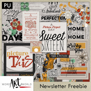 February Freebie in the Word Art World Newsletter!