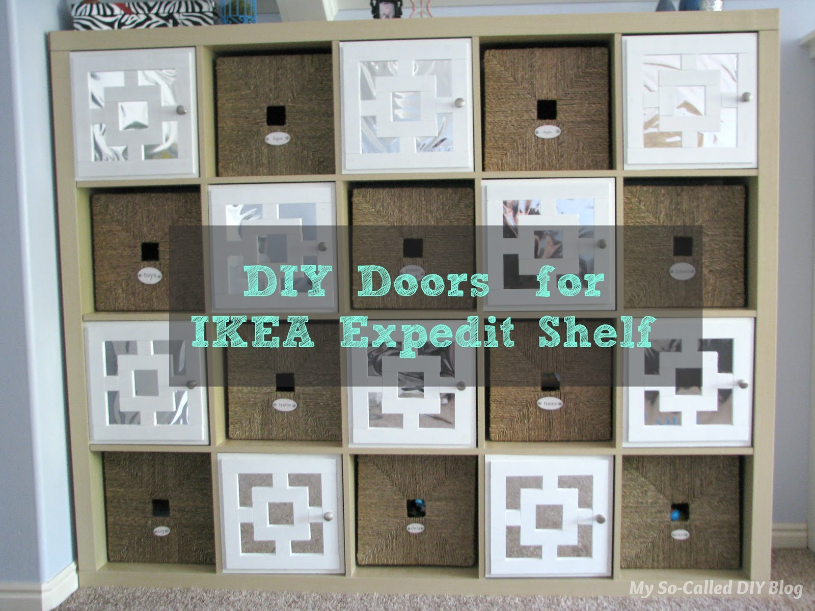 Diy Doors For Ikea Expedit Cubby Shelf