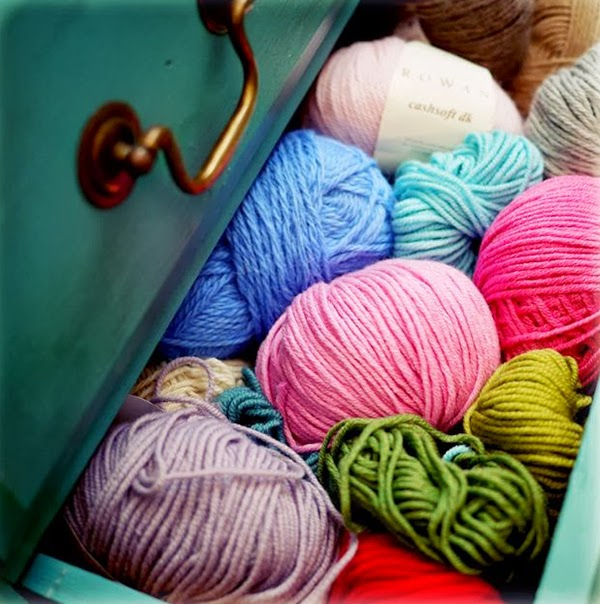 Colourful Yarn storage