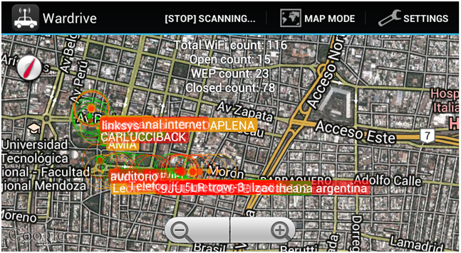 Wardriving con Android 12
