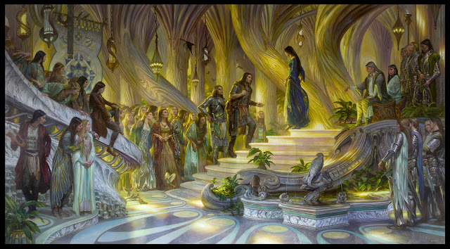 "Донато Джанкола / Donato Giancola ""Beren and Luthien in the Court of Thingal and Melian"""