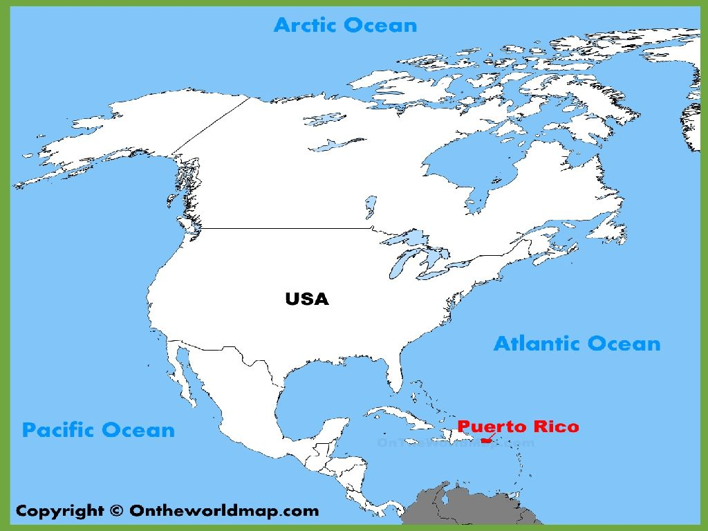 united states and puerto rico map