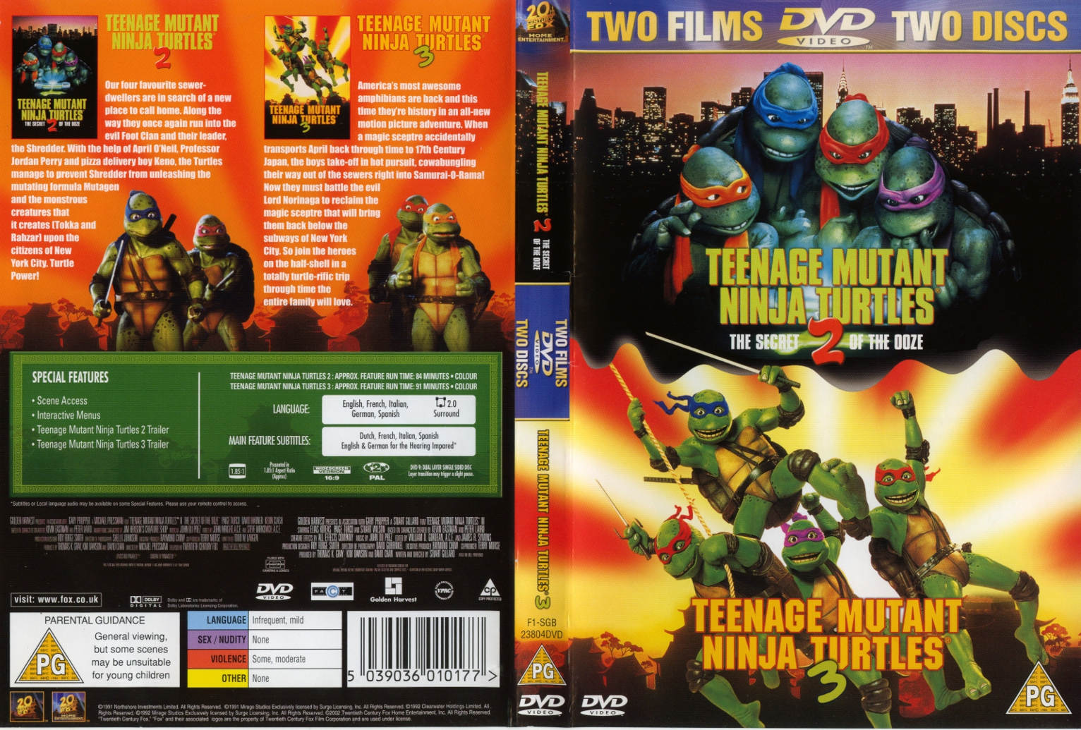 Squer S Tmnt Collection Tmnt Ii The Secret Of The