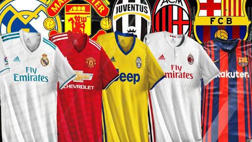 Camisas 2017-2018 dos Clubes europeus