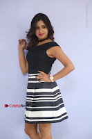 Actress Mi Rathod Pos Black Short Dress at Howrah Bridge Movie Press Meet  0059.JPG