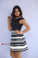 Actress Mi Rathod Pos Black Short Dress at Howrah Bridge Movie Press Meet  0059.JPG