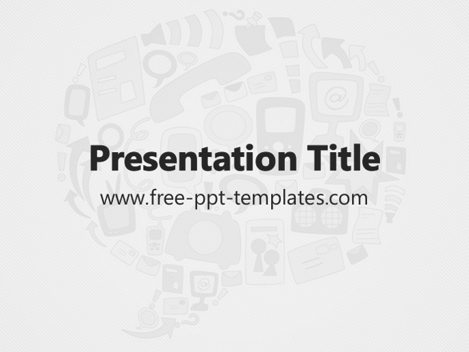 communication powerpoint template, Modern powerpoint