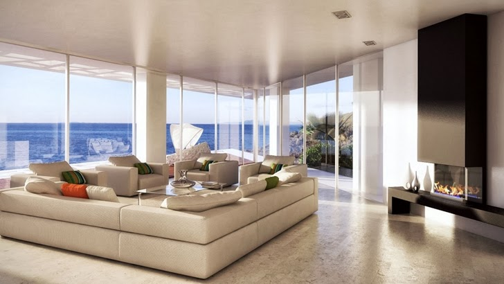Living room in Modern villa by Studio Aristo