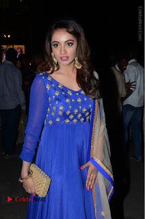 Telugu Actress Tejaswi Madivada Pos in Blue Long Dress at Nanna Nenu Na Boyfriends Audio Launch  0086.JPG