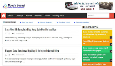 contoh template blog yang seo friendly
