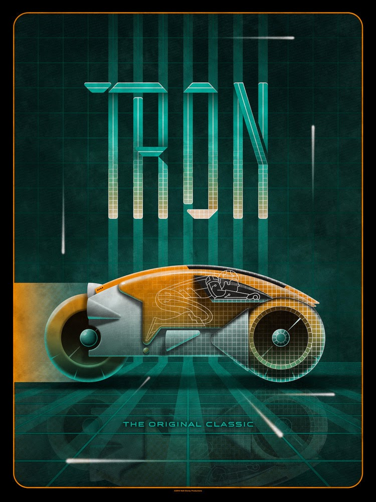 INSIDE THE ROCK POSTER FRAME BLOG: DKNG Studios TRON Movie ...