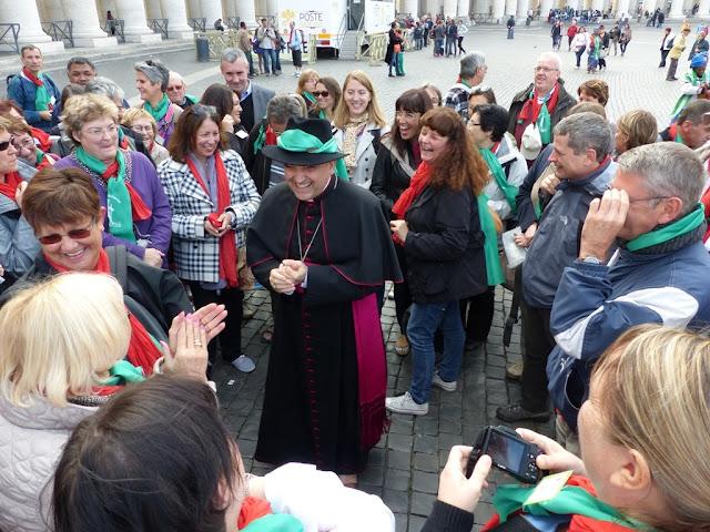 Mgr Lebrun et les diocésains