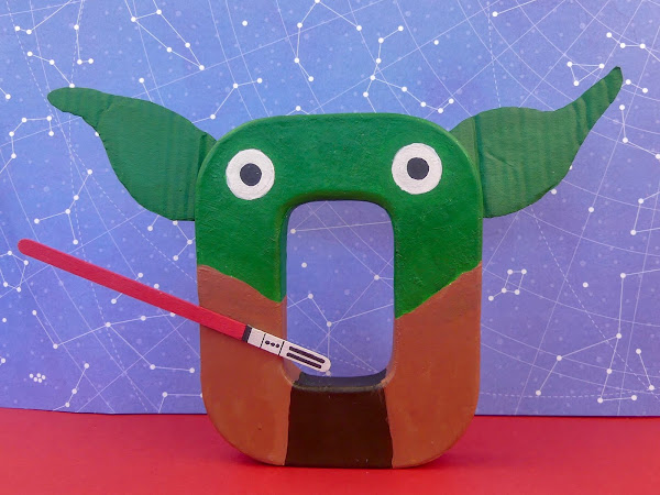 Letra decorada con la temática de Star Wars