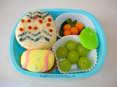 Easter eggs bento school lunch