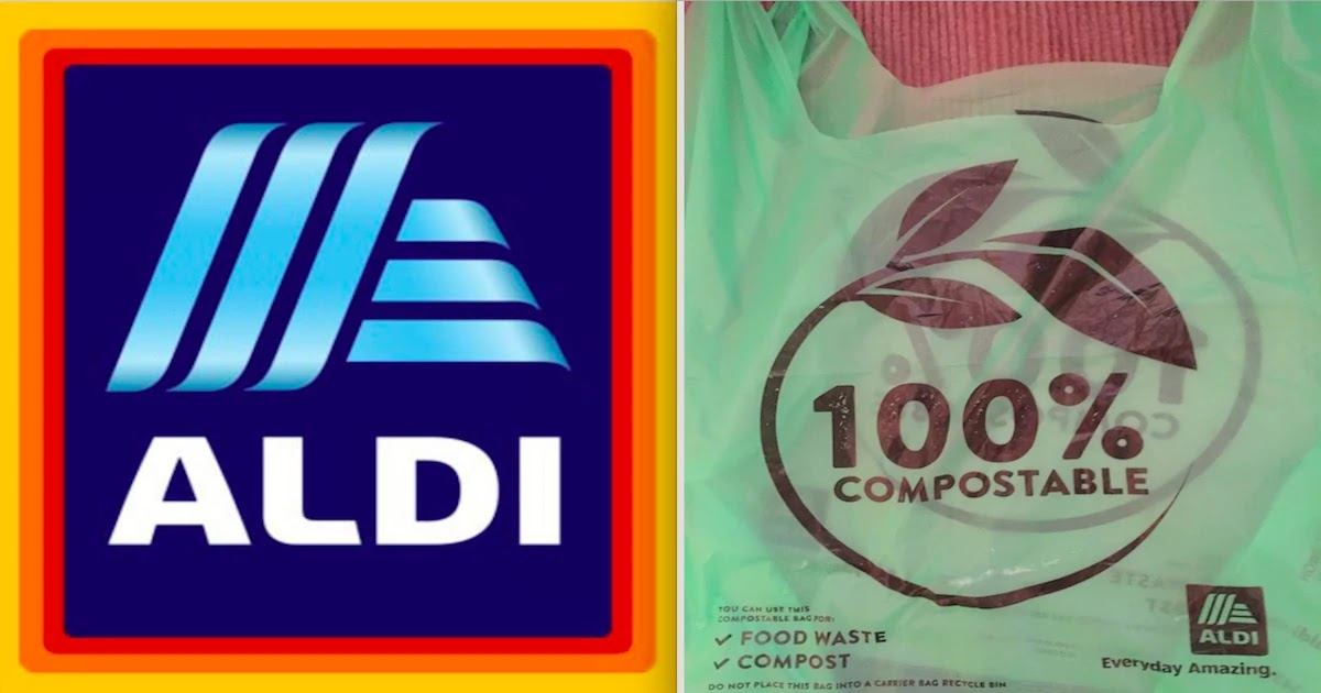 Aldi In Ireland Replaces All Its Plastic Bags With Compostable Biodegradable Bags