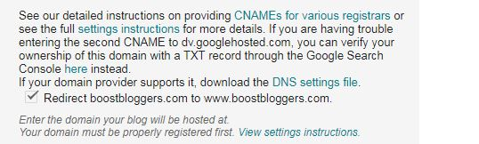 Non www version to www version redirection in  Blogger