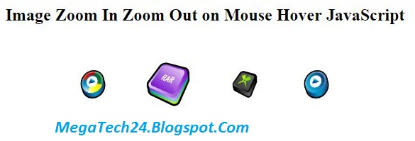 zoom image on mouseover using javascript