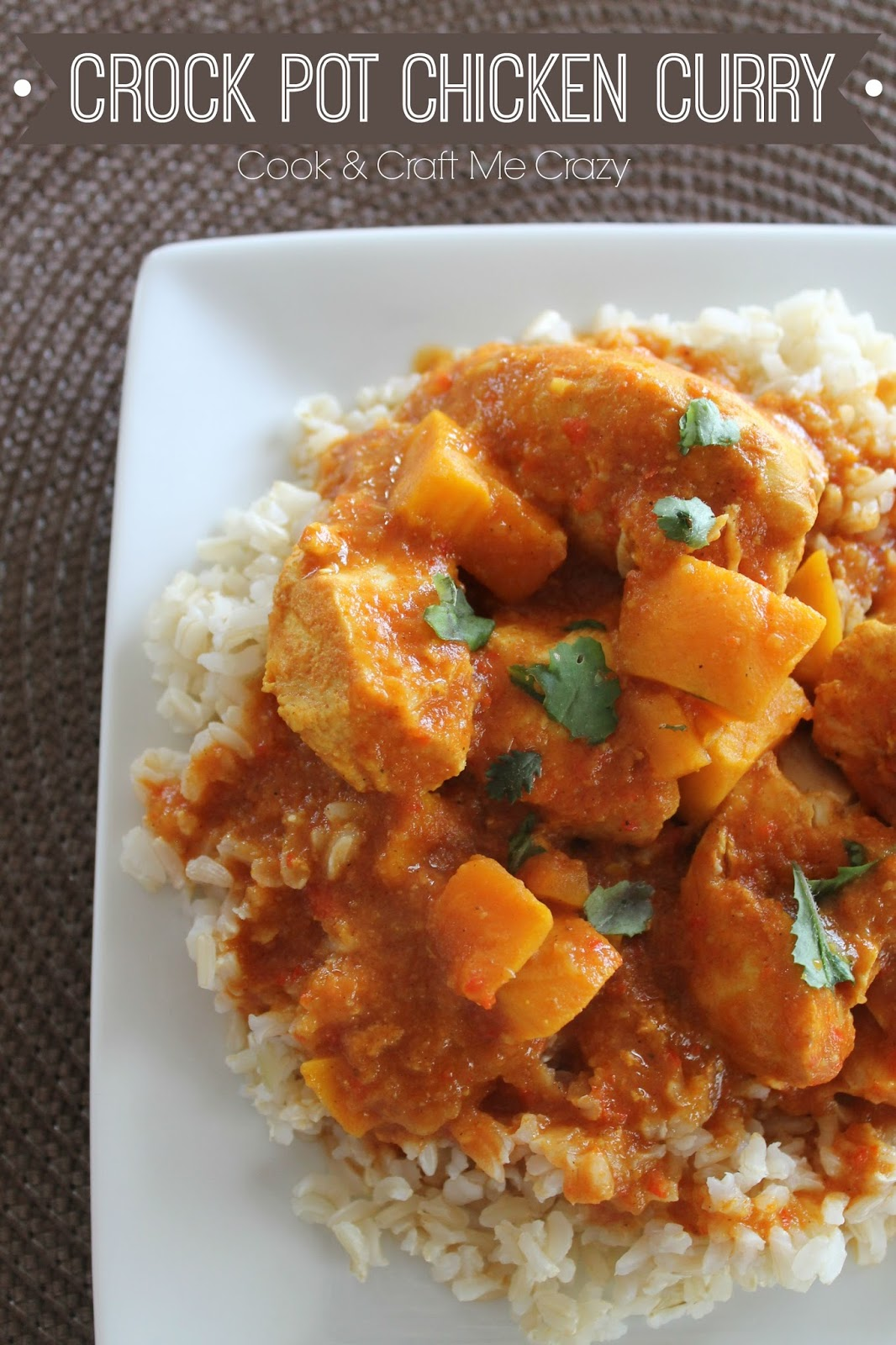 Cook And Craft Me Crazy Crock Pot Chicken Curry